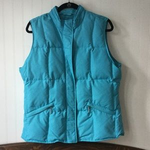 Talbots EUC quilted puffy down vest large